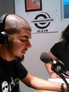 Javier Álvarez presentando el editorial