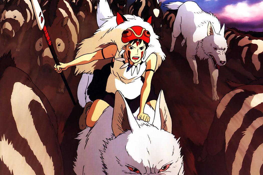 San, la chica lobo en La Princesa Mononoke (Hayao Miyazaki, 1997)