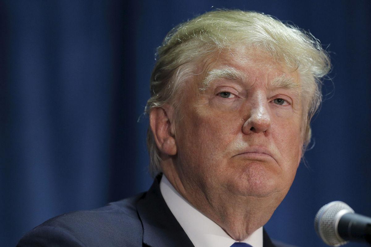 Donald Trump durante un discurso
