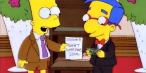 Bart Simpson vende su alma a Milhouse