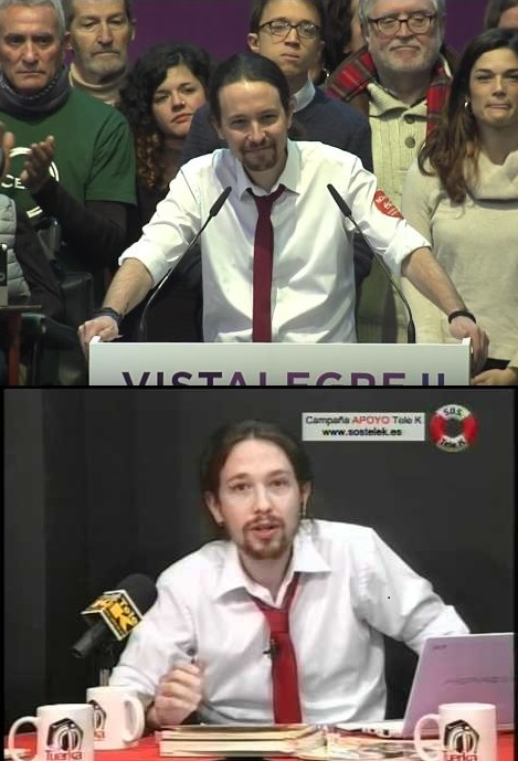 Pablo Iglesias en La Tuerka y en Vistalegre 2