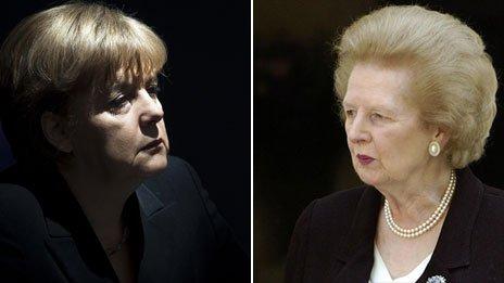 Angela Merkel y Margaret Thatcher