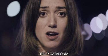 imagen del vídeo Help Catalonia, que se viralizó tras el requerimiento para aplicar el art. 155 CE