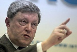 Grigori Yavlinkski, candidato a Jefe de Estado en las elecciones presidenciales rusas de 2018