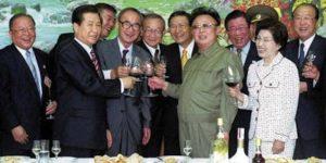 Kim Dae-Jung y Kim Jong Il, junio del 2000 primera cumbre intercoreana