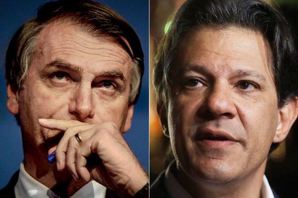 Jair Bolsonaro Fernando Haddad.