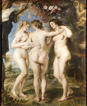 Las tres Gracias, de Rubens. Museo del Prado