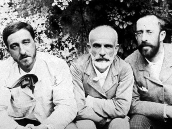 Ricardo Rubio, Francisco Giner de los Ríos y Manuel Bartolomé Cossío