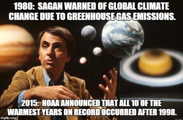 Carl Sagan y el cambio climático