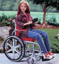 barbie becky en silla de ruedas