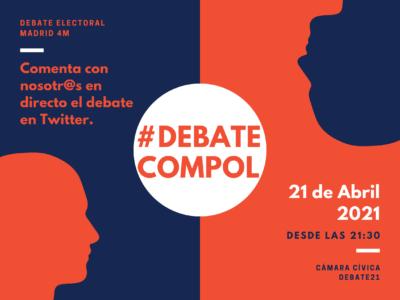 Cartel debate electoral Madrid