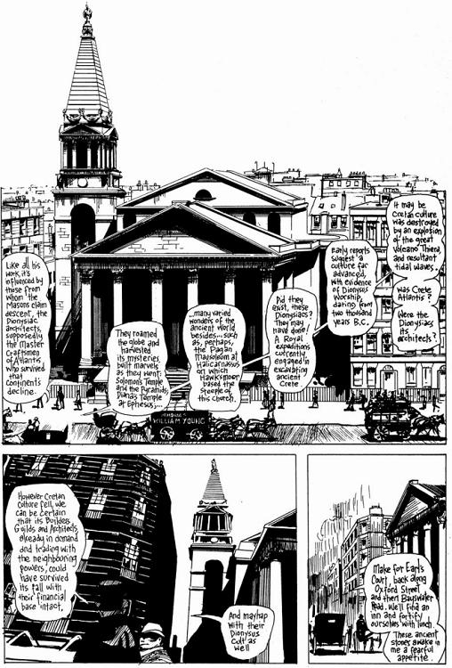 Conversación entre Gull y Netley (personajes de From Hell) sobre los arquitectos dionisíacos